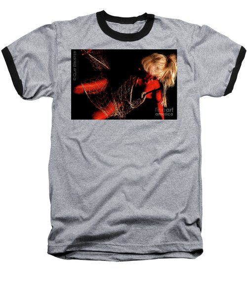 Netted A Red Baseball T-Shirt by Clayton Bruster