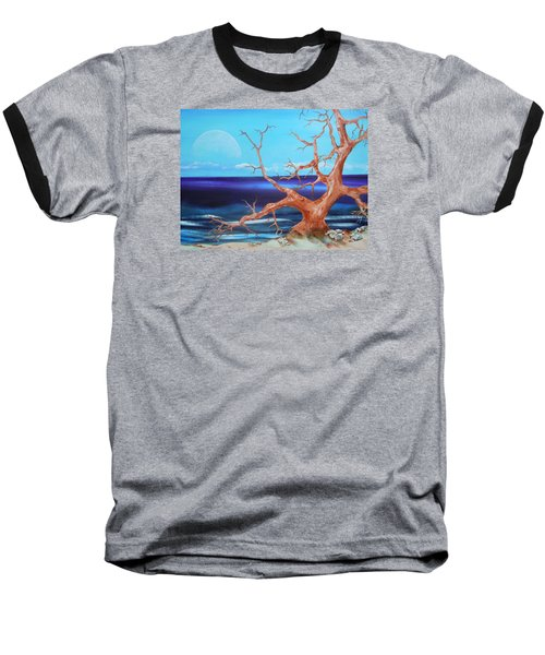 Baseball T-Shirt featuring the painting Never Alone by Dan Whittemore