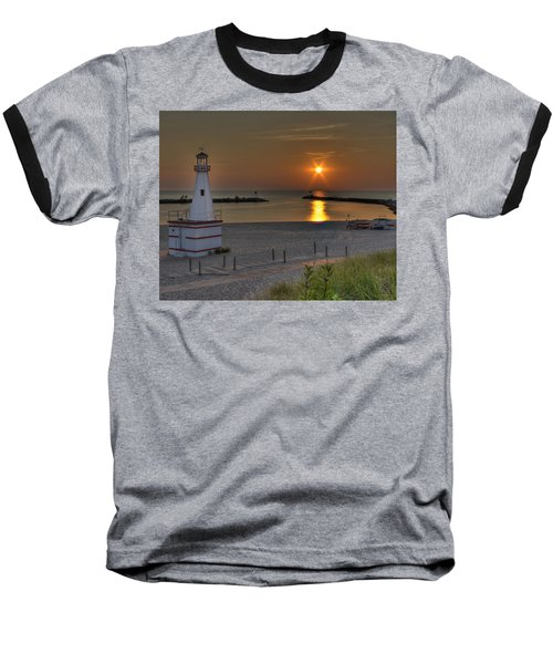 New Buffalo City Beach Sunset Baseball T-Shirt