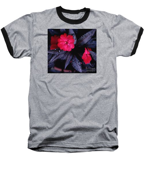 Baseball T-Shirt featuring the photograph New Guinea Impatiens by Tom Wurl