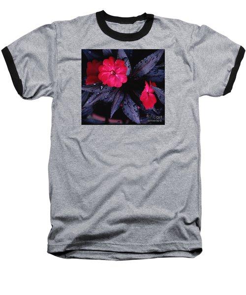 New Guinea Impatiens Baseball T-Shirt by Tom Wurl