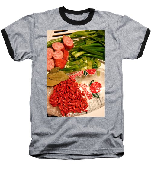 New Orleans' Red Beans And Rice Baseball T-Shirt