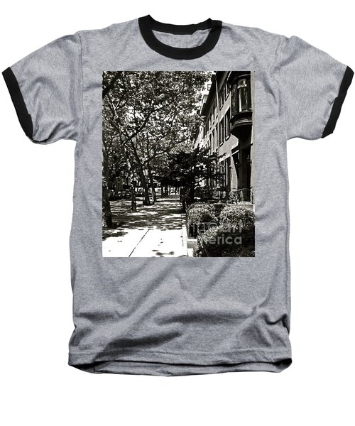 Baseball T-Shirt featuring the photograph New York Sidewalk by Eric Tressler