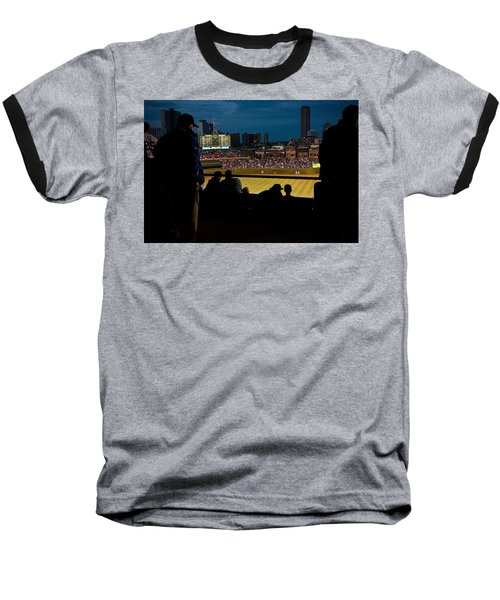 Night Game At Wrigley Field Baseball T-Shirt
