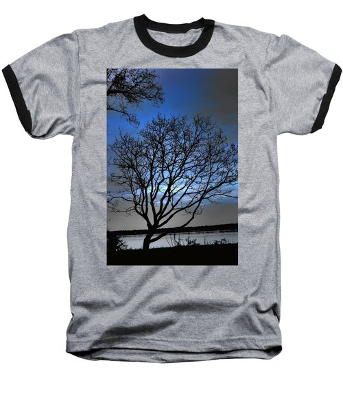 Night On The River Baseball T-Shirt by Dan Stone