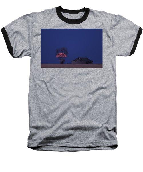 Night Shot Saskatchewan Canada Baseball T-Shirt