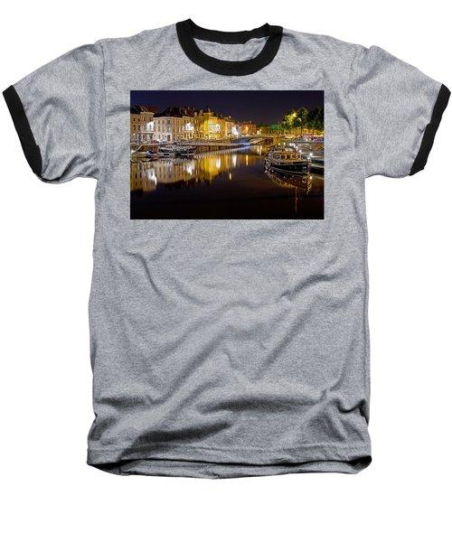 Nighttime Along The River Leie Baseball T-Shirt