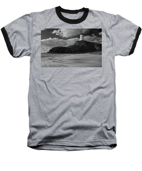 Niwbwrch Lighthouse Baseball T-Shirt by Beverly Cash