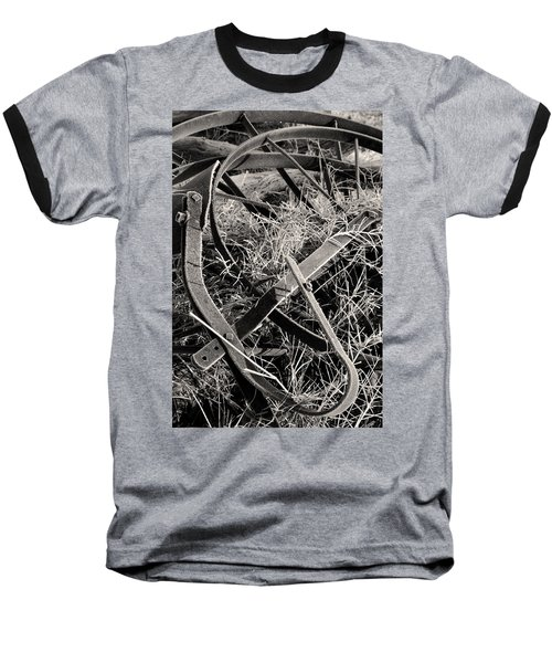 Baseball T-Shirt featuring the photograph No More Plowing by Ron Cline