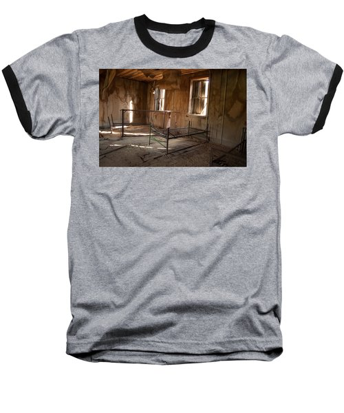 Baseball T-Shirt featuring the photograph No More Time To Sleep by Fran Riley