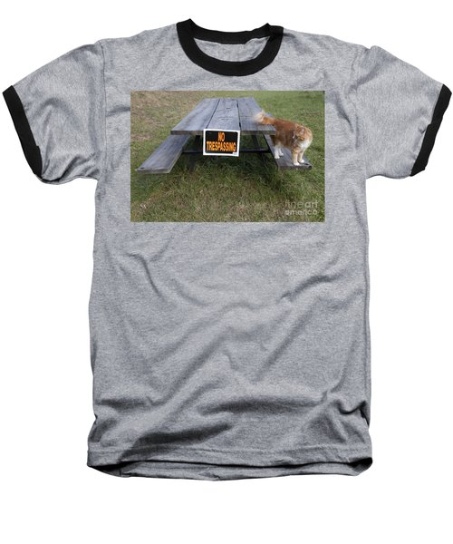 Baseball T-Shirt featuring the photograph No Trespassing by Jeannette Hunt