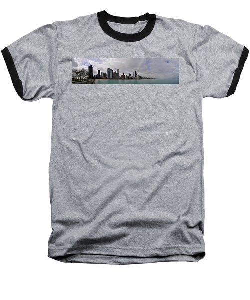 Baseball T-Shirt featuring the photograph North Of Navy Pier From The Series Chicago Skyline by Verana Stark