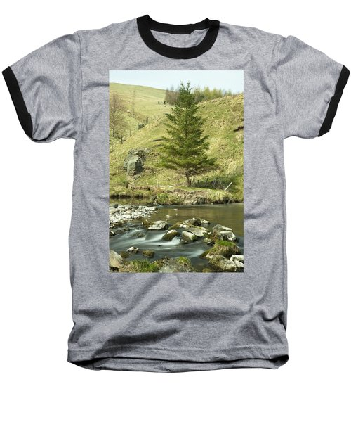 Baseball T-Shirt featuring the photograph Northumberland, England A River Flowing by John Short