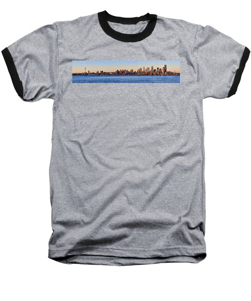 Northwest Jewel - Seattle Skyline Cityscape Baseball T-Shirt