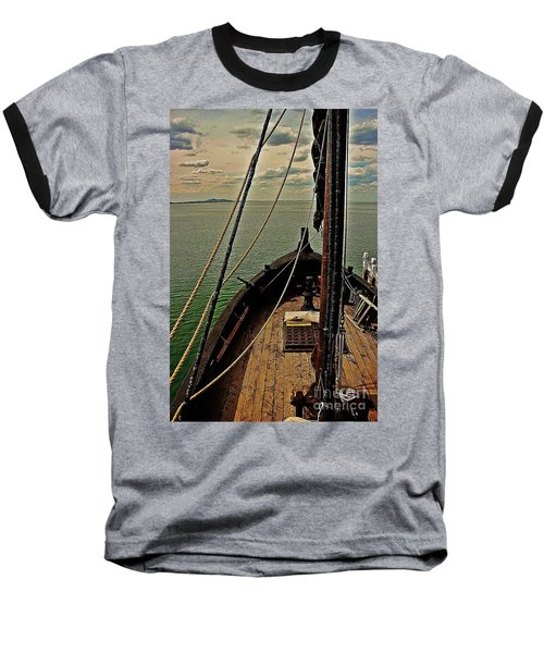 Notorious The Pirate Ship 6 Baseball T-Shirt