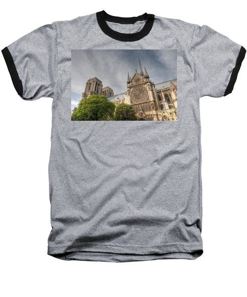 Baseball T-Shirt featuring the photograph Notre Dame De Paris by Jennifer Ancker