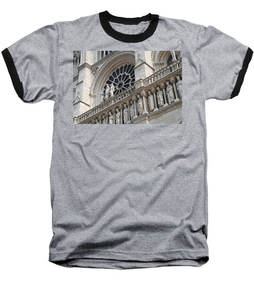 Baseball T-Shirt featuring the photograph Notre Dame Details by Jennifer Ancker