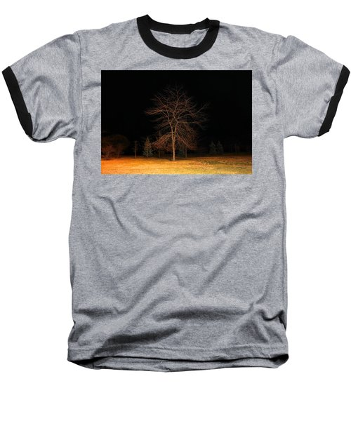Baseball T-Shirt featuring the photograph November Night by Milena Ilieva