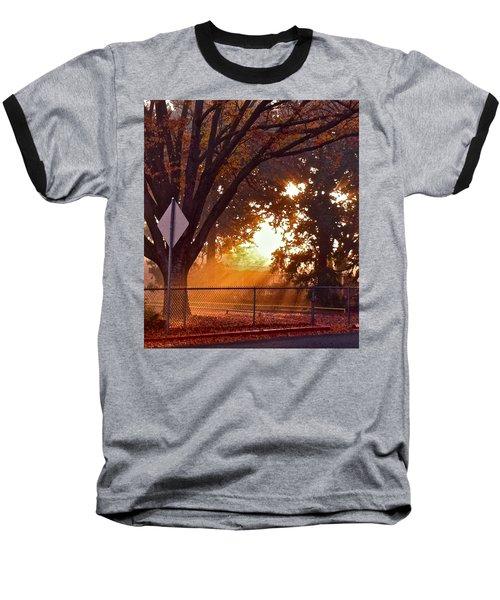 Baseball T-Shirt featuring the photograph November Sunrise by Bill Owen