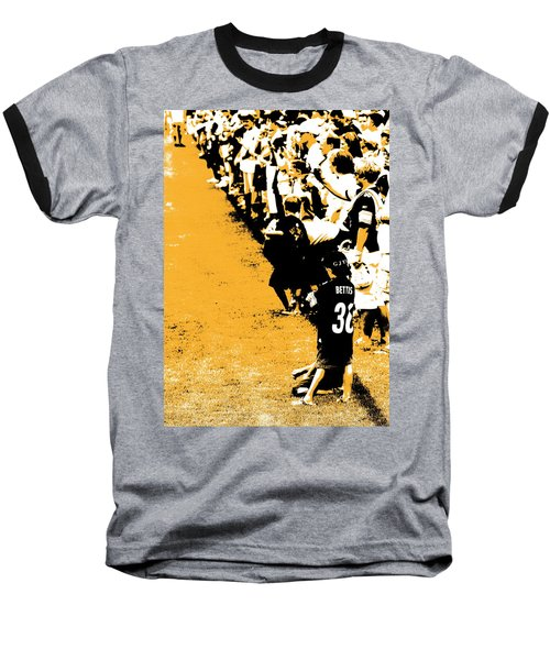Number 1 Bettis Fan - Black And Gold Baseball T-Shirt