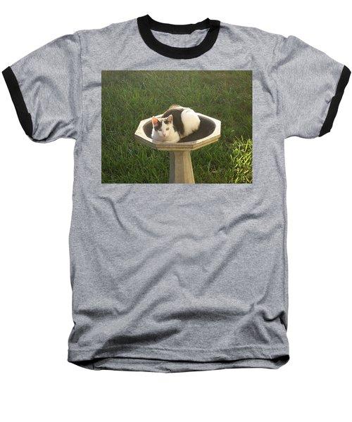 Occupied Bird Bath Baseball T-Shirt