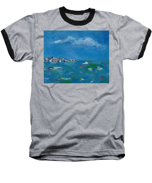 Baseball T-Shirt featuring the painting Ocean Delight by Judith Rhue