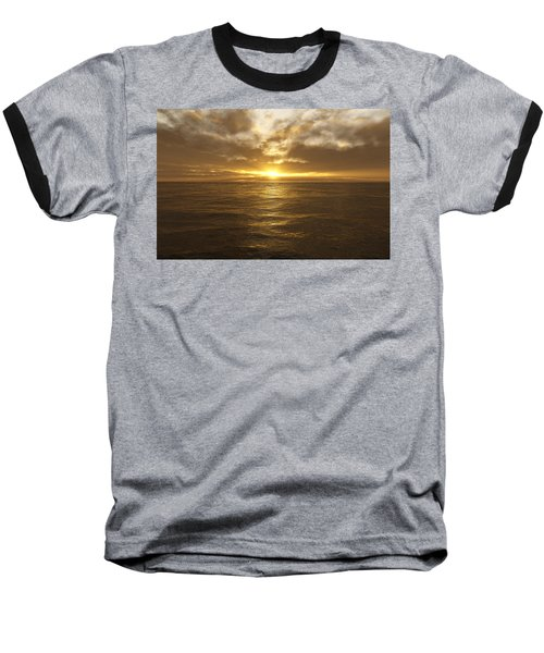 Ocean Sunset Baseball T-Shirt by Mark Greenberg