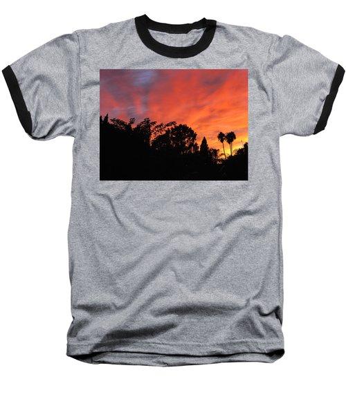 October Sunset 10 Baseball T-Shirt