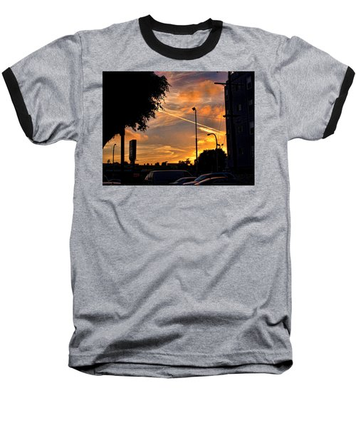 October Sunset 6 Baseball T-Shirt