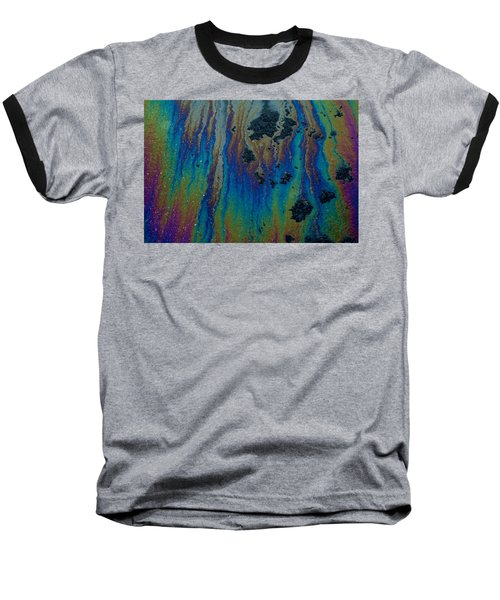 Oil On Pavement Aurora Borealis Baseball T-Shirt
