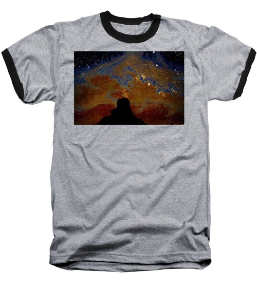 Oil On Pavement Visionary Baseball T-Shirt