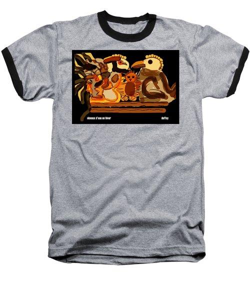 Oiseaux D'eau En Hiver Baseball T-Shirt