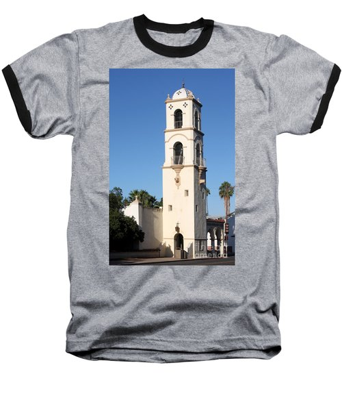 Baseball T-Shirt featuring the photograph Ojai Post Office Tower by Henrik Lehnerer