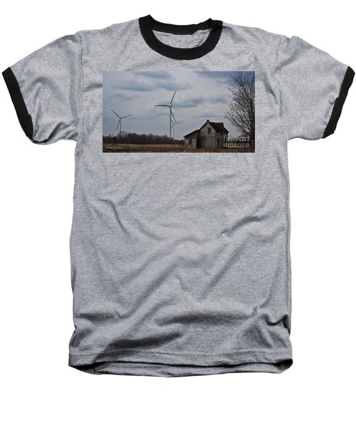 Baseball T-Shirt featuring the photograph Old And New by Barbara McMahon