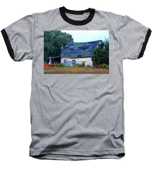 Baseball T-Shirt featuring the photograph Old Barn by Davandra Cribbie