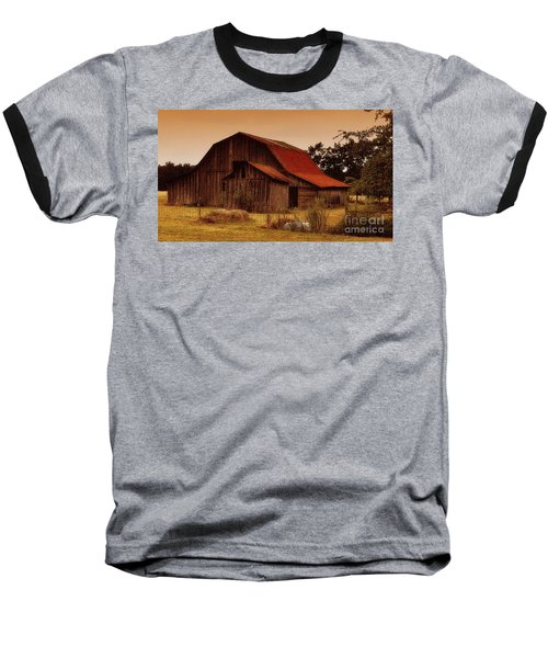 Baseball T-Shirt featuring the photograph Old Barn by Lydia Holly