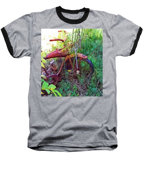 Old Bike And Weeds Baseball T-Shirt