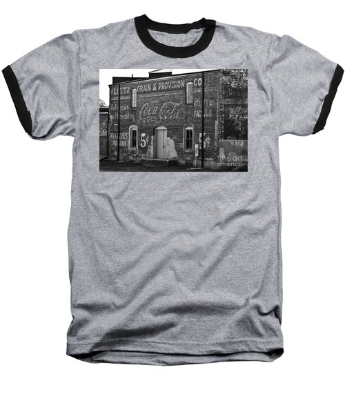 Old Building In Salisbury Nc Baseball T-Shirt by Wilma  Birdwell