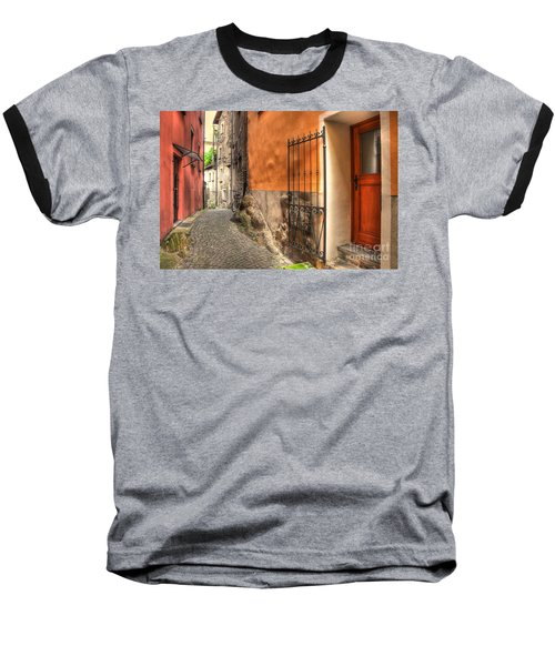 Old Colorful Rustic Alley Baseball T-Shirt