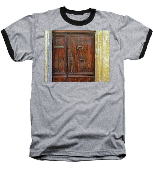 Baseball T-Shirt featuring the photograph Old Door Study Provence France by Dave Mills