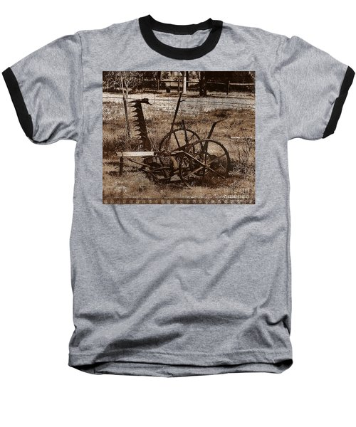 Baseball T-Shirt featuring the photograph Old Farm Equipment by Blair Stuart