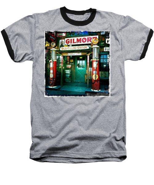 Old Fashioned Filling Station Baseball T-Shirt