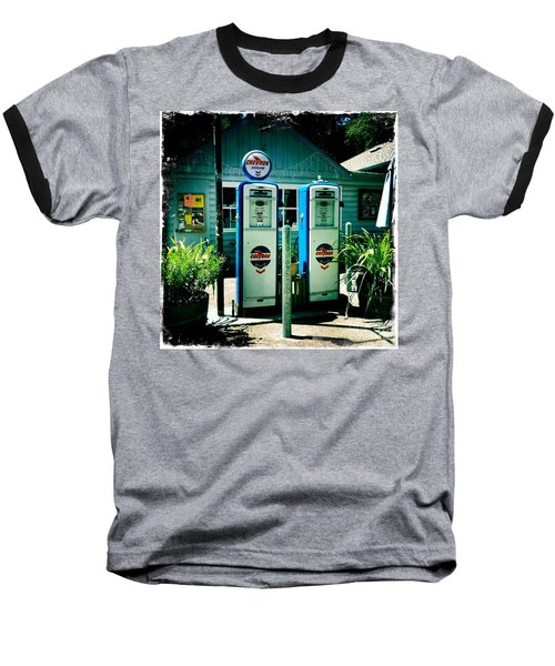 Baseball T-Shirt featuring the photograph Old Fashioned Gas Station by Nina Prommer