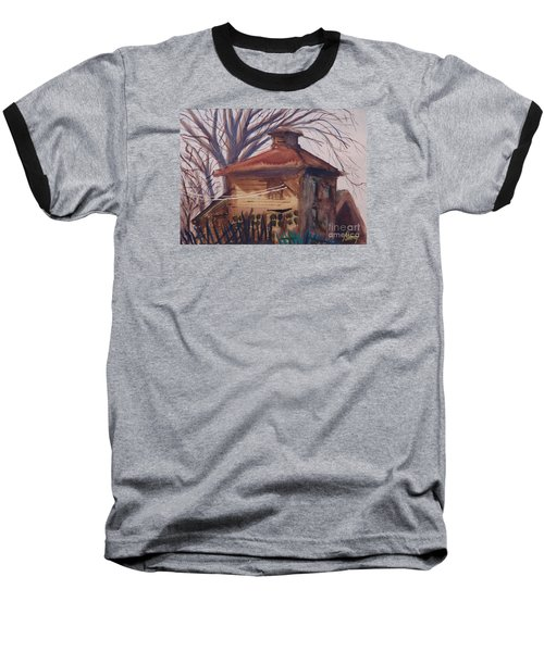 Baseball T-Shirt featuring the painting Old Garage by Rod Ismay