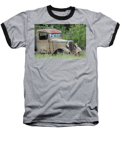 Abandoned Truck In Field Baseball T-Shirt by Athena Mckinzie