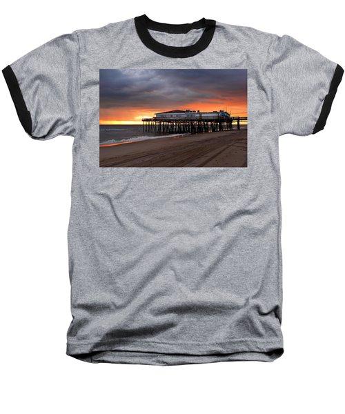 Old Jennettes Pier Baseball T-Shirt