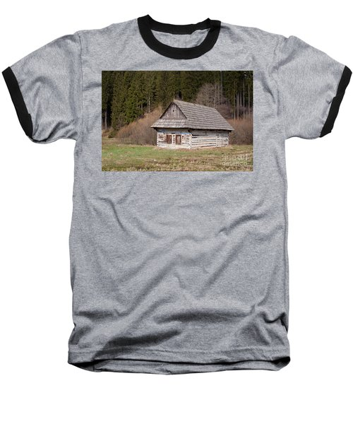Baseball T-Shirt featuring the photograph Old Log House by Les Palenik