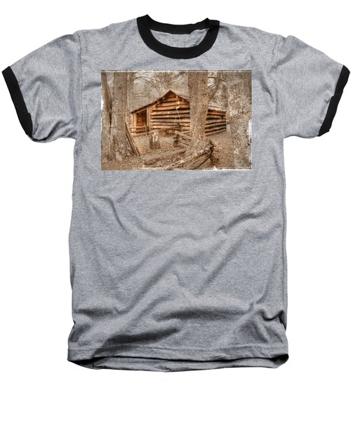 Old Mill Work Cabin Baseball T-Shirt by Dan Stone