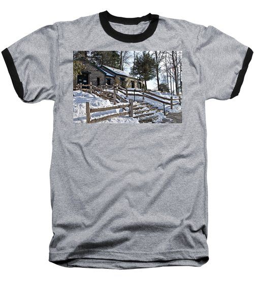 Old Rock Building  Baseball T-Shirt