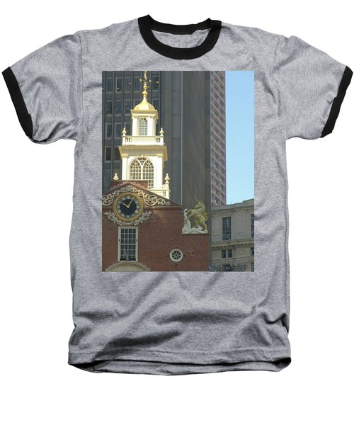 Old South Meeting House Baseball T-Shirt